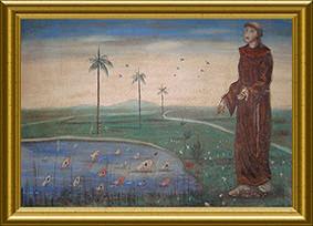 Santo Antônio pregando aos peixes